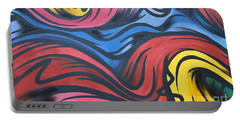 Portable Battery Charger featuring the photograph Colorful Urban Street Art From Singapore by Imran Ahmed