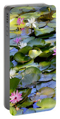 Colorful Water Lily Pond Portable Battery Charger