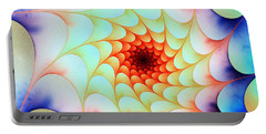 Portable Battery Charger featuring the digital art Colorful Web by Anastasiya Malakhova