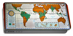 Colorful World Map Of Coffee Portable Battery Charger by David Lee Thompson