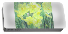 Colorful  Yellow Flowers Portable Battery Charger