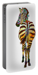 Colorful Zebra Portable Battery Charger