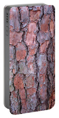 Colors And Patterns Of Pine Bark Portable Battery Charger by Connie Fox