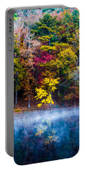 Colors In Early Morning Fog Portable Battery Charger