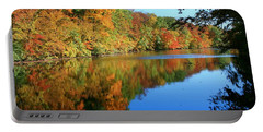 Colors Of Fall Portable Battery Charger by Susan  McMenamin