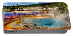 Colors Of Yellowstone National Park Portable Battery Charger