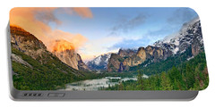 Colors Of Yosemite Portable Battery Charger by Jamie Pham