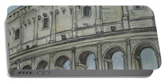 Colosseum Rome Italy Portable Battery Charger by Malinda  Prudhomme