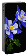 Columbine Duet Portable Battery Charger by Priscilla Burgers