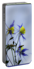 Portable Battery Charger featuring the photograph Columbines by Peter v Quenter