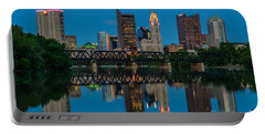 Columbus Ohio Night Skyline Photo Portable Battery Charger