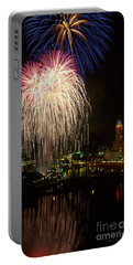 Columbus Red White And Boom Portable Battery Charger