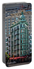 Columbus Tower In San Francisco Portable Battery Charger
