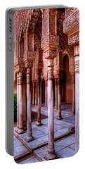 Columns Of The Court Of The Lions - Painting Portable Battery Charger