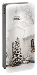 Portable Battery Charger featuring the photograph White Christmas In Maryland Usa by Vizual Studio