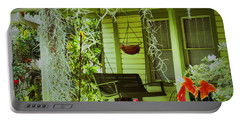 Portable Battery Charger featuring the photograph Come Sit Awhile by Patricia Greer