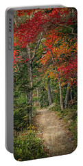 Come Walk With Me Portable Battery Charger by Priscilla Burgers