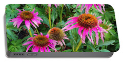 Portable Battery Charger featuring the photograph Comely Coneflowers by Meghan at FireBonnet Art