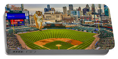 Portable Battery Charger featuring the photograph Comerica Park Detroit Mi With The Tigers by Nicholas  Grunas