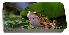 Portable Battery Charger featuring the digital art Common Frog by Ron Harpham