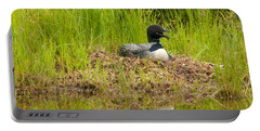 Common Loon Nesting Portable Battery Charger