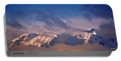 Comox Glacier And Morning Mist Portable Battery Charger