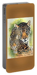 Portable Battery Charger featuring the mixed media Compelling by Barbara Keith