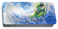 Portable Battery Charger featuring the painting Competitive Edge by Hanne Lore Koehler
