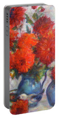 Complementary - Original Impressionist Painting - Still-life - Vibrant - Contemporary Portable Battery Charger