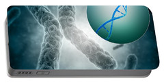 Conceptual Image Of A Telomere Showing Portable Battery Charger