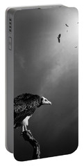 Conceptual - Vultures Awaiting Portable Battery Charger