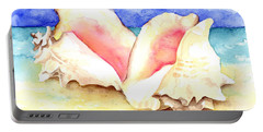 Conch Shells On Beach Portable Battery Charger
