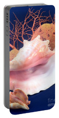 Conch Still Life Portable Battery Charger by Barbie Corbett-Newmin