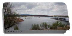 Portable Battery Charger featuring the photograph Conchas Dam by Sheri Keith