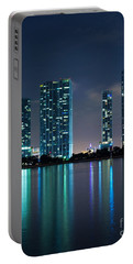 Portable Battery Charger featuring the photograph Condominium Buildings In Miami by Carsten Reisinger