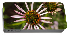 Cone Flower - 1 Portable Battery Charger by Charles Hite