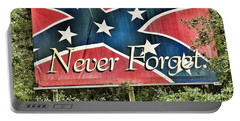 Confederate Flag In The Woods Portable Battery Charger