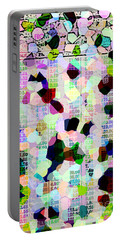 Portable Battery Charger featuring the photograph Confetti Table by Ecinja Art Works