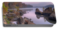 Congaree River At Dawn-1 Portable Battery Charger by Charles Hite