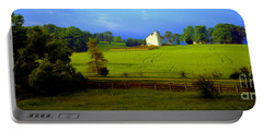 Conley Road Farm Spring Time Portable Battery Charger by Tom Jelen