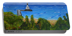 Summer, Conneaut Ohio Lighthouse Portable Battery Charger by Melvin Turner