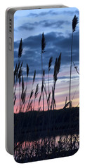 Connecticut Sunset With Reeds Series 4 Portable Battery Charger by Marianne Campolongo