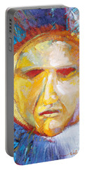 Portable Battery Charger featuring the painting Contemplating The Sun by Randy Wollenmann