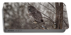 Contemplating Winter Portable Battery Charger by Eunice Gibb