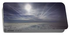 Contrail Panorama Portable Battery Charger by Greg Reed