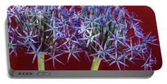 Portable Battery Charger featuring the photograph Flowering Onions by Roselynne Broussard