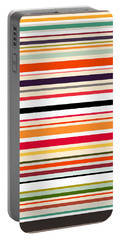 Contrast Stripe Pattern Portable Battery Charger