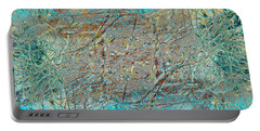 Portable Battery Charger featuring the photograph Cool Blue Tangle by Stephanie Grant