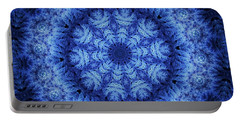 Portable Battery Charger featuring the digital art Cool Down Series #1 Snowflake by Lilia D