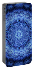 Portable Battery Charger featuring the digital art Cool Down Series #2 Frozen by Lilia D